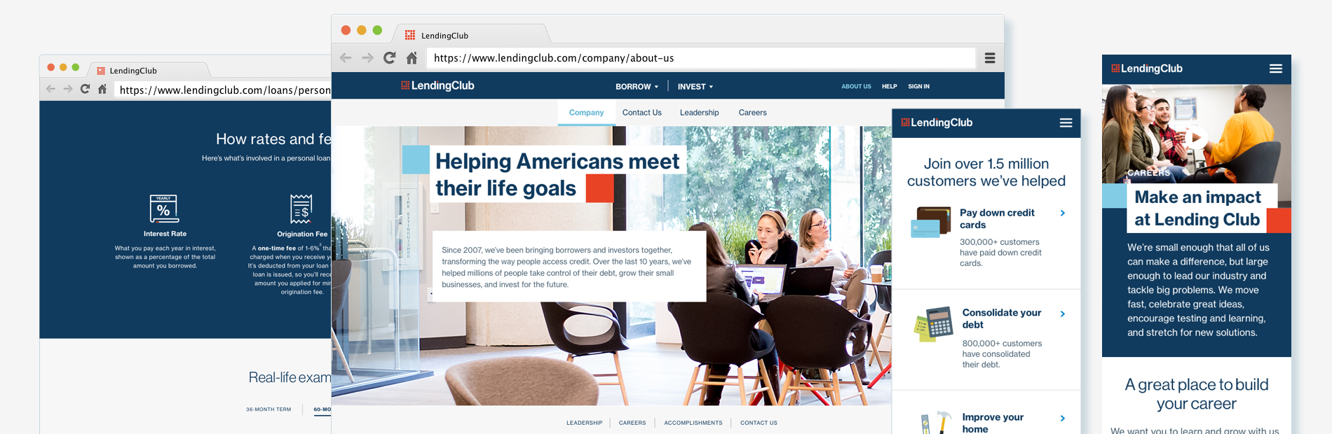Lending Club Website Redesign - Liz Chang
