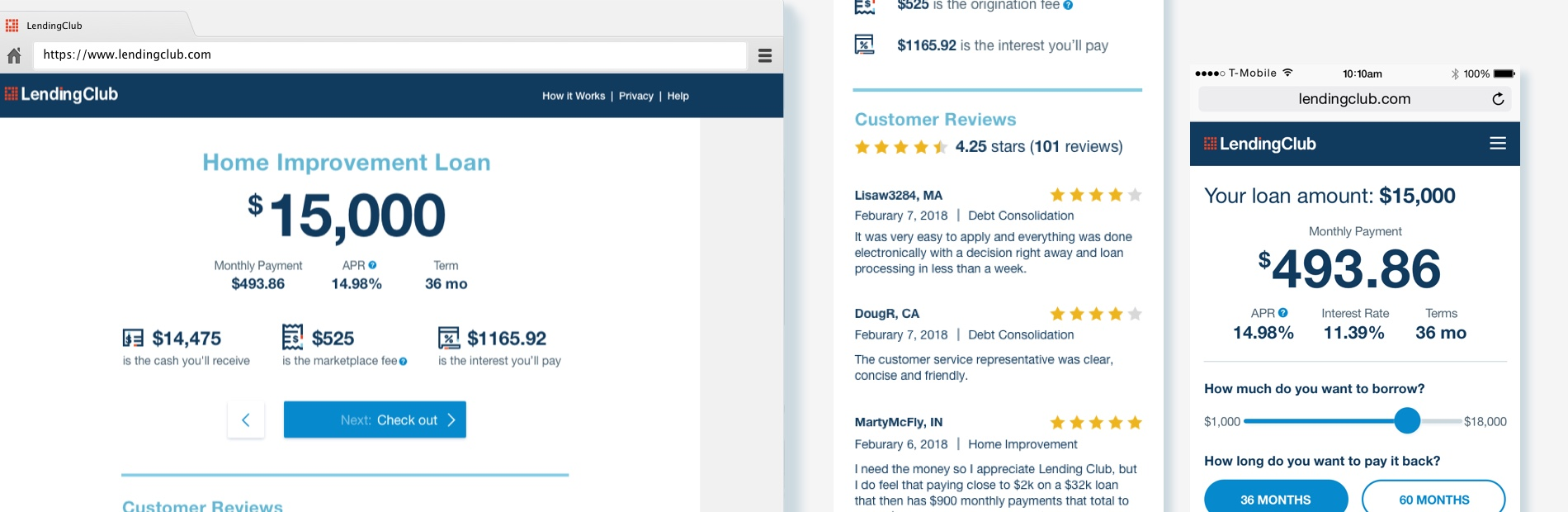 LendingClub Offer Page Redesign - Liz Chang