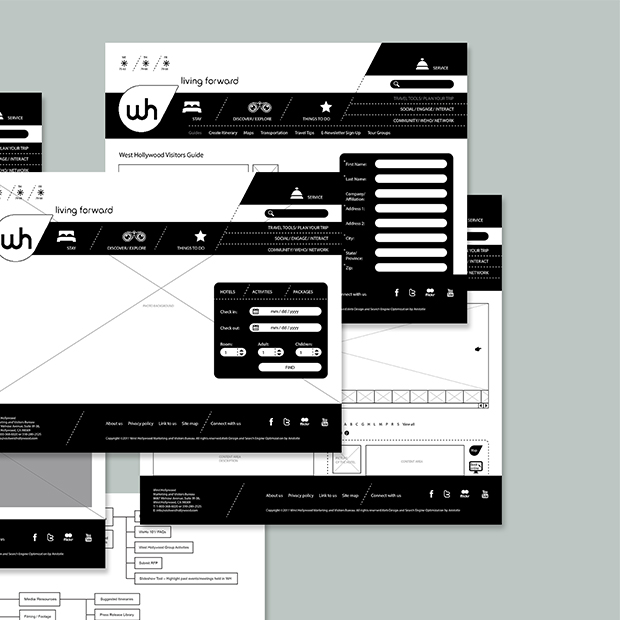 West Hollywood Concept and Wireframes - Liz Chang
